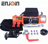 ENJOIN electric winch 13500 lbs 12v with cable or strap 4x4 recovery off road winch