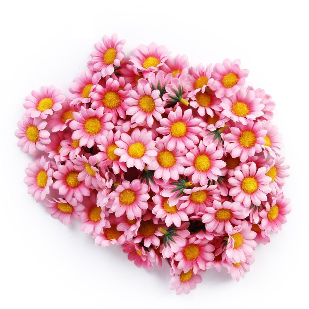 Buy 100pcs artificial flowers wholesale fake flowers heads gerbera 100pcs artificial flowers wholesale fake flowers heads gerbera daisy silk flower heads sunflowers sun flower heads izmirmasajfo