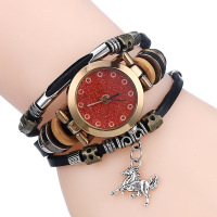 Vintage Genuine Leather Quartz Bracelet Wrist Watch Women Latest Fashion Watches Design For Ladies JSW-0441