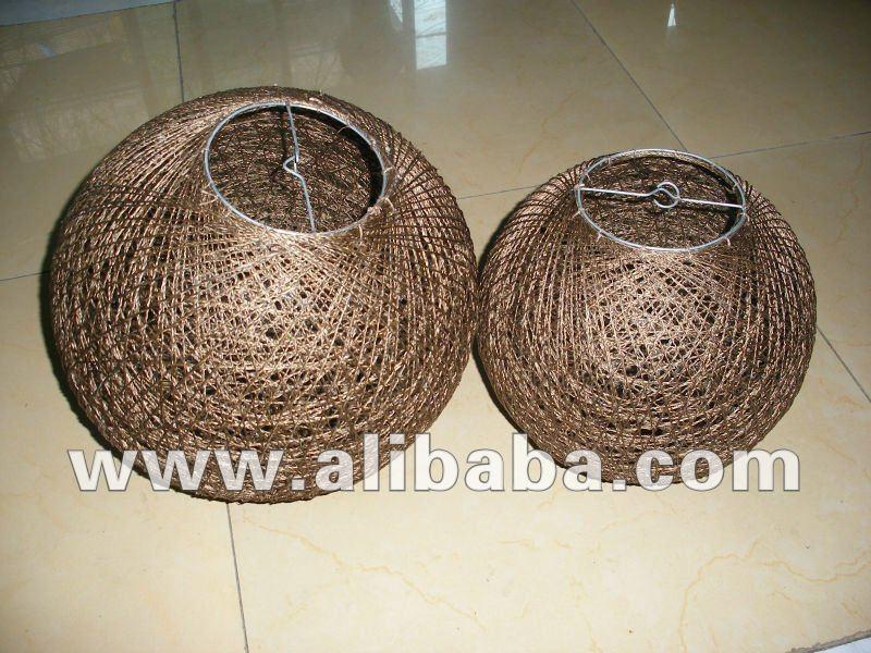 Abaca Twine Ball Lamp Shades - Buy Abaca Ball Lamp Shades Product ...