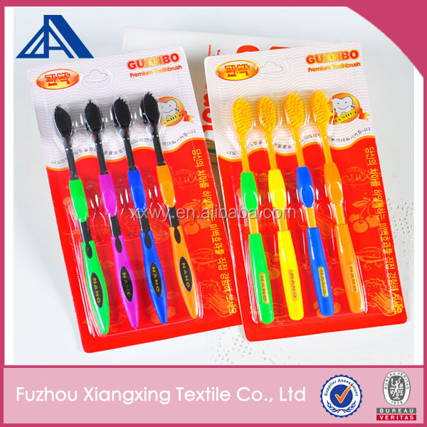 Promotion Quantity selling Disposable soft fur Bamboo fiber toothbrush