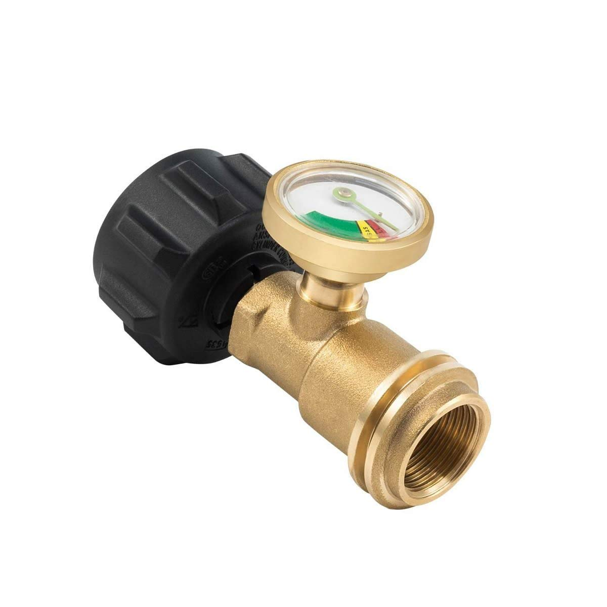 Propane Tank Gas Meter - Cylinder Gas Level Indicator Adapter - Used on All BBQ Grill,Heater, RV Camper & All Other Propane Appliances Leak Detector