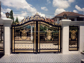 wireless control galvanized and powder coated iron fancy gates