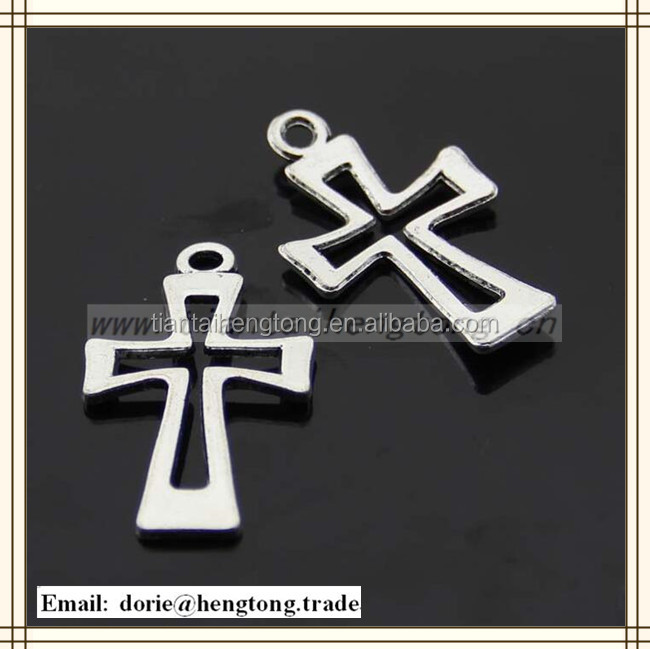 Factory cheapest selling alloy religious rosary cross pendant ,cross with multi color