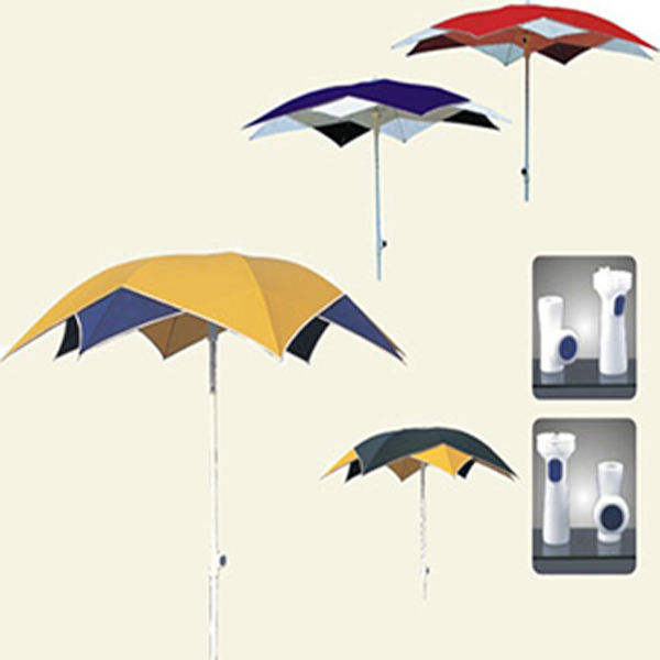 double-deck and color fashion beach parasol umbrella