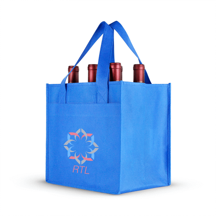 High quality  strong thick cotton canvas double wine bag