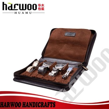 4 Slot Pu Watch Travel Box Brown Color Leather Watch Travel Bag Watch Travel Bag Buy 4 Slot Pu Watch Travel Box Brown Color Leather Watch Travel