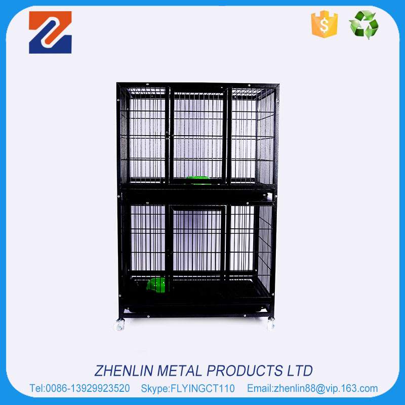New design large steel iron commercial metal dog cage singapore sale