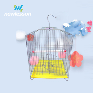 China manufacturer wire bird cage plastic tray parrot carrier cage