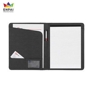 High quality Conference folder, Leather Folder with logo custom