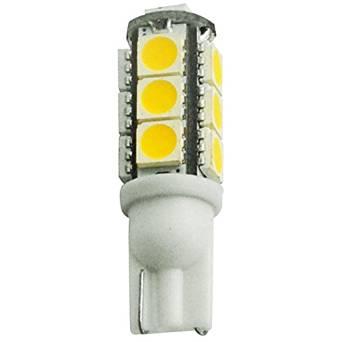 194 - 2 Watt - LED - Miniature Wedge - 2700K Warm White - 10 Watt Equal - 12 Volt DC Only - PLT T10-13SMD5050-27K