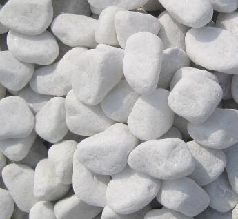 White Polished Garden Pebbles And Stones Pebble Wash Stone
