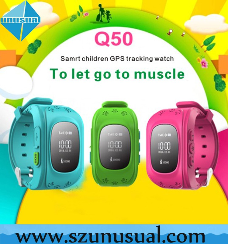 GPS Positioning SOS Alarm Remote Monitoring Smart Kids GPS Watch Q50