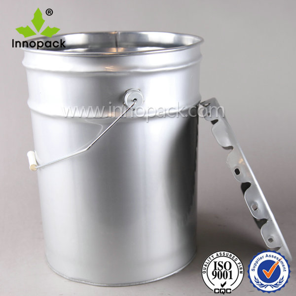 Custom Printed 20l 5 Gallon Stainless Steel Pail With Lid