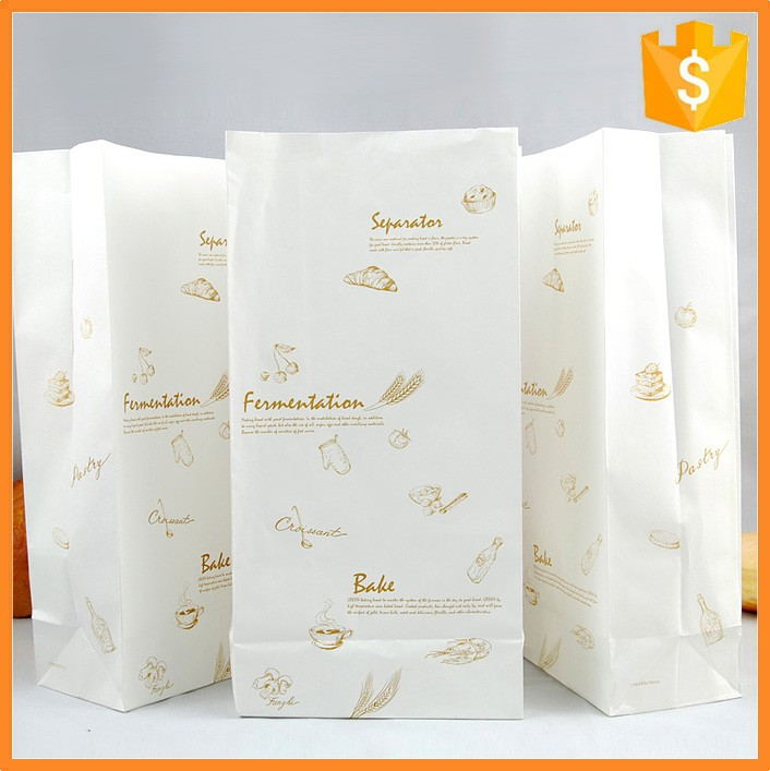 Large Quantities Custom White Kraft Material Produced French Fries Paper Bag