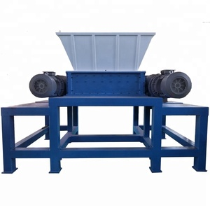 Double Shaft Solid Waste Metal Scrap Steel Shredder Machine
