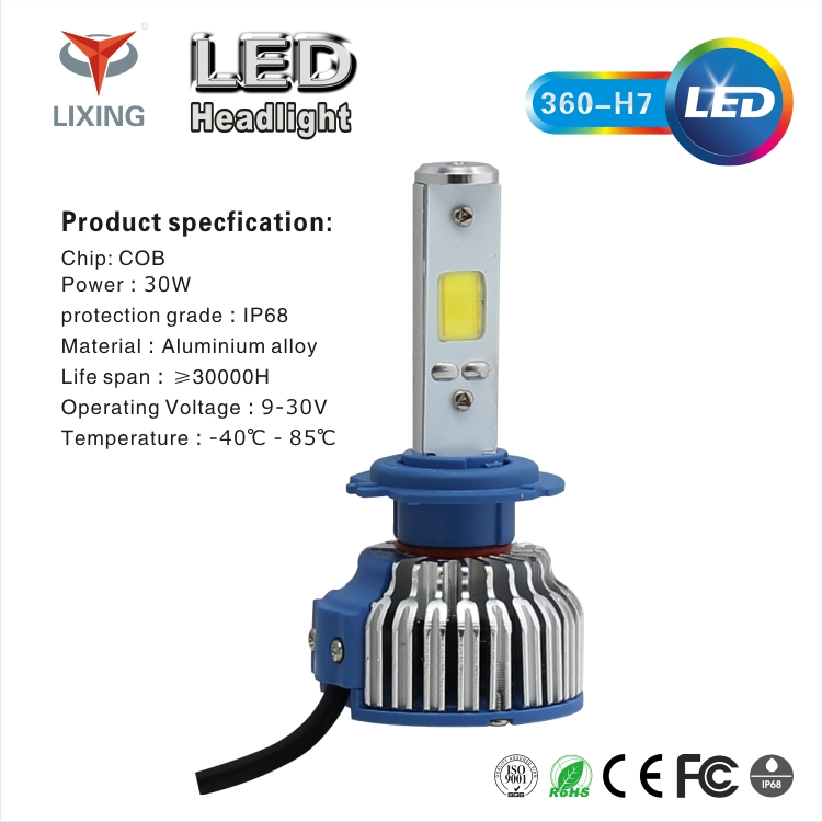 newest auto car S2 H4 led headlight 12v 36w 8000LM led car headlight ,auto parts