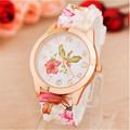 Superior Women Girl Watch Silicone Printed Flower Causal Quartz Wrist Watches zh3