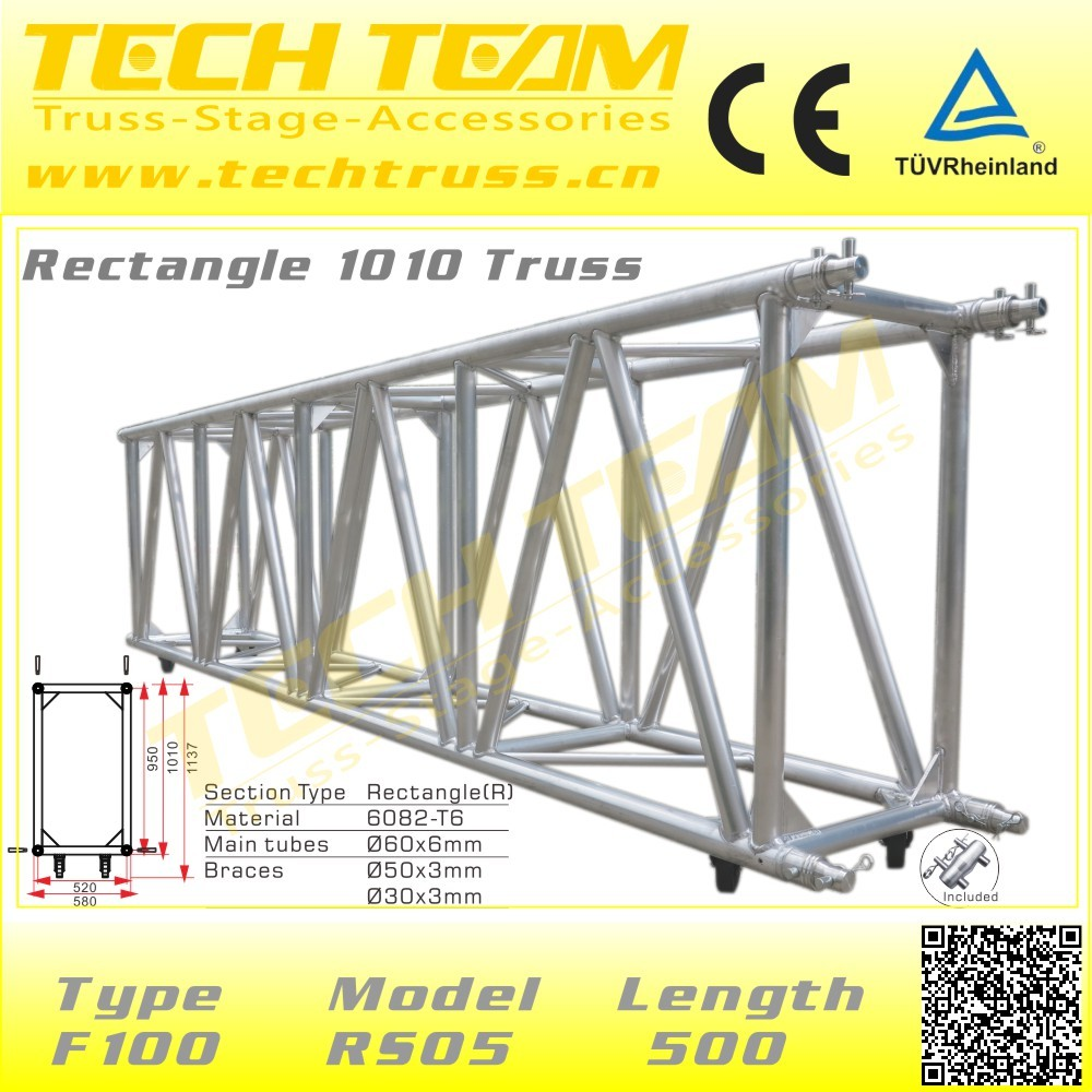 Used Long Span 40m Heavy Load Aluminum Truss Stage Truss