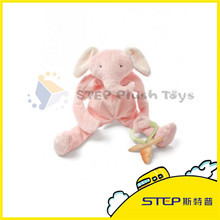 Elephant Plush Toy with Nipple Hot Sale Nipple Plush Toy for Baby