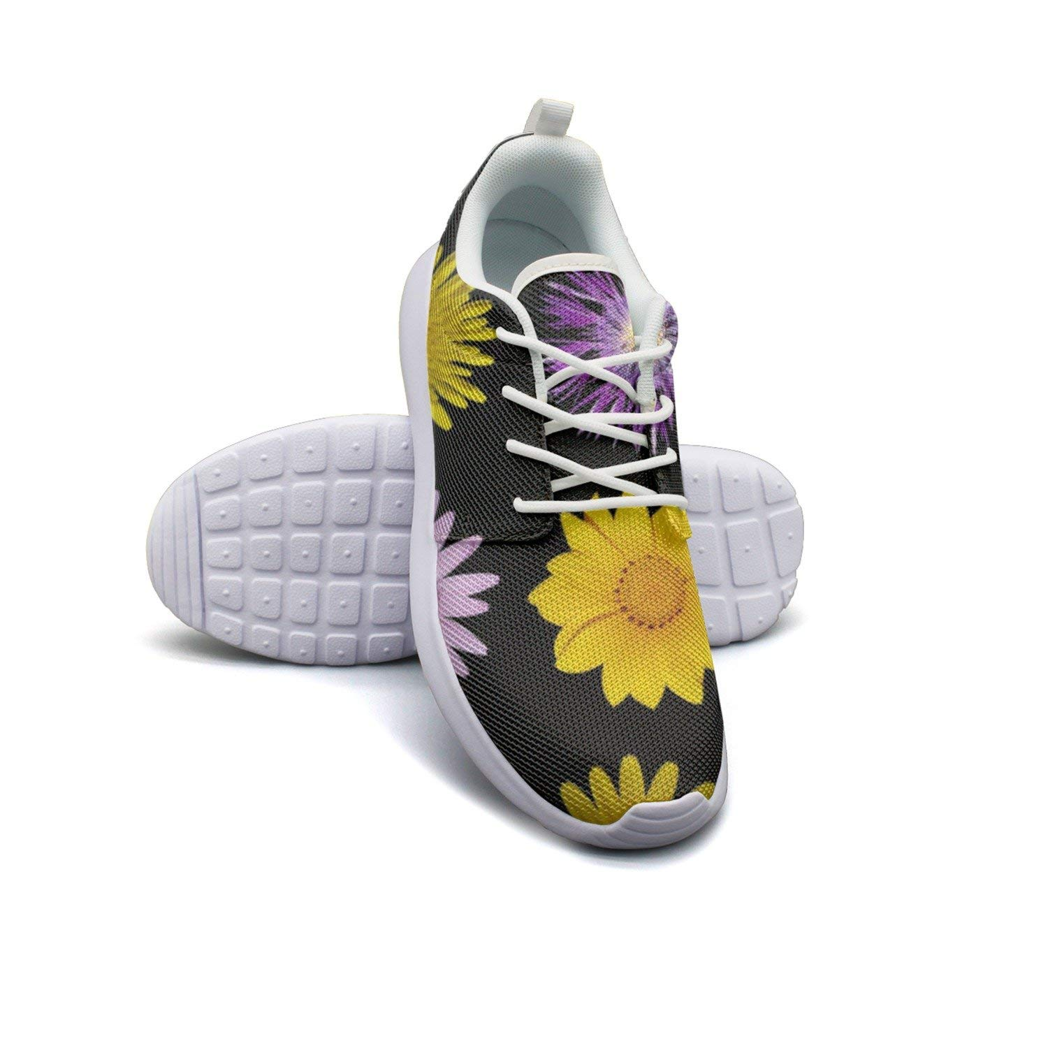 HJXJESSIE Womens Flowers Style Running Shoes Jogging Runner Sports Sneakers