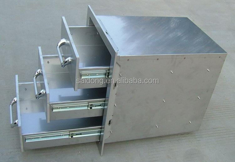 Outdoor Küche Edelstahl Schubladen : Maßgeschneiderte handels küche edelstahl küchenschrank grill insel
