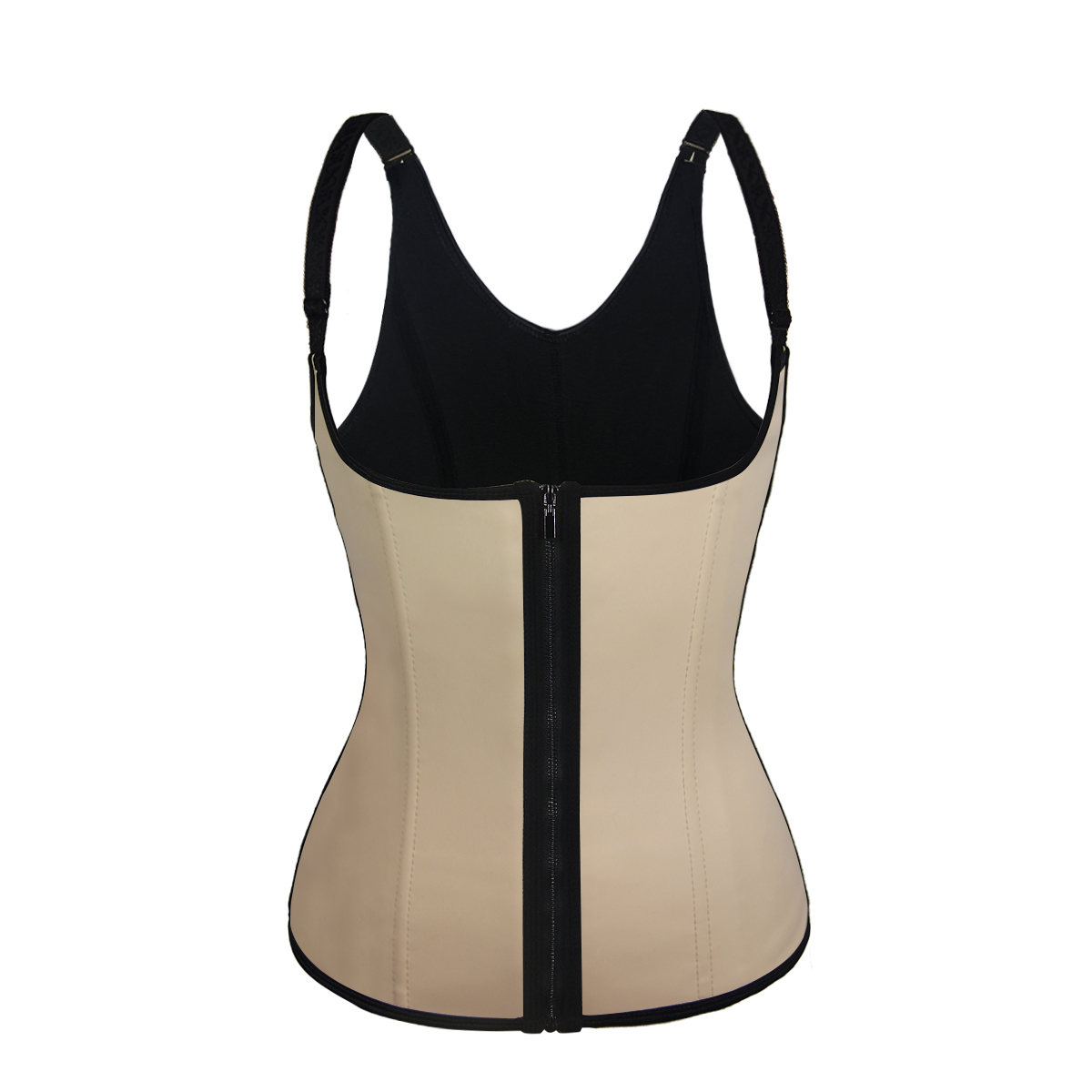 in stock zipper slimming vest latex body shaper  zip waist trainer
