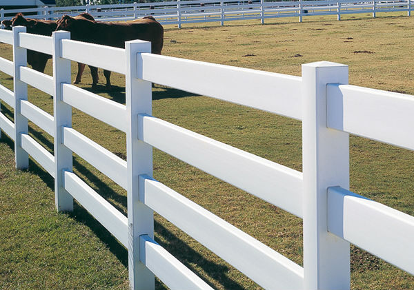 Pvc rail fence for farm and paddock buy