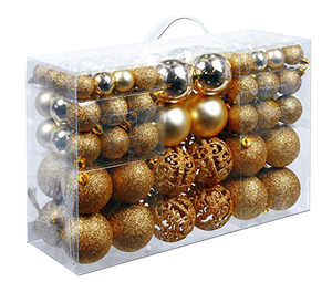 Promotional plastic christmas ball ornament set