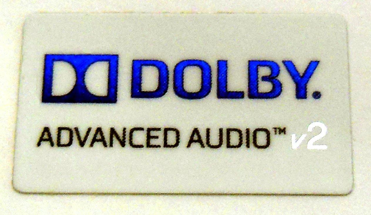 """Dolby Advanced Audio v2 Sticker 12 x 21mm / 1/2"""" x 7/8"""" [918]"""