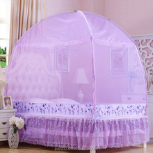 Fashion pretty queen size bed tent mosquito net purple princess mosquito net bed canopy