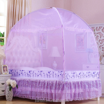 Fashion pretty queen size bed tent mosquito net purple princess mosquito net bed canopy & Fashion Pretty Queen Size Bed Tent Mosquito Net Purple Princess ...