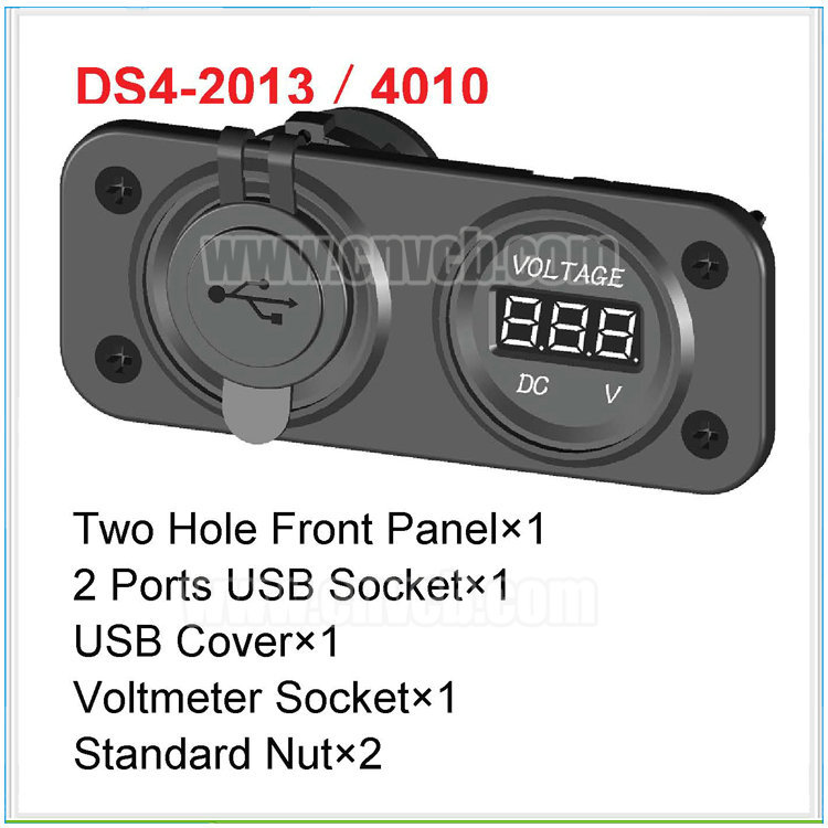 MD29 Waterproof Power Socket Outlet 5V Panel and Digital for Marine Motor Voltmeter Panel