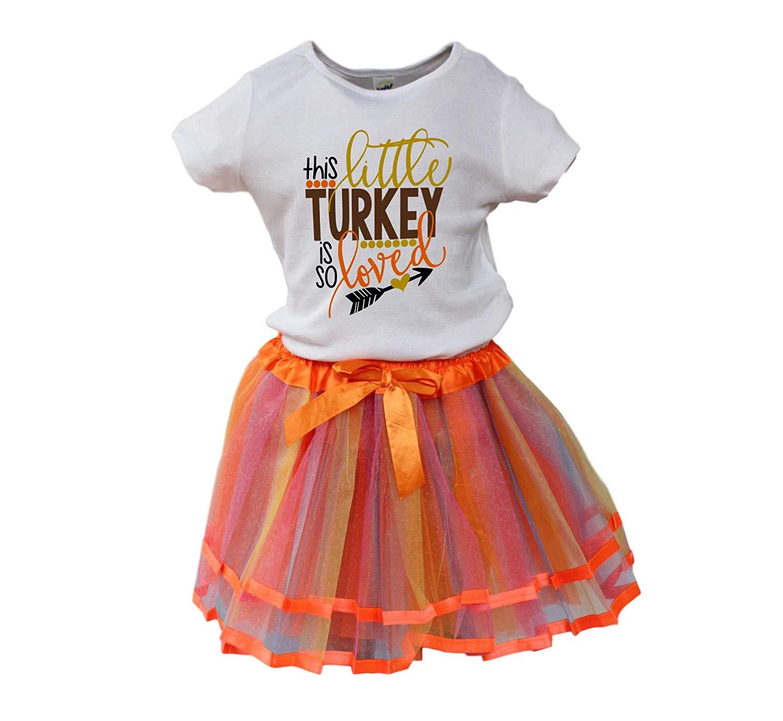 80de7ef90 Get Quotations · Girl Fall Tutu Girl Thanksgiving outfit Girl winter outfit  Turkey girl tutu