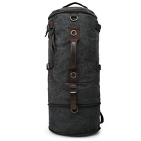 Big capacity backpack pure cotton canvas duffel bag