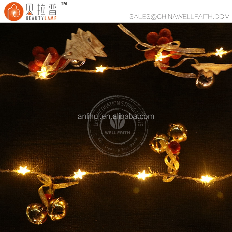 waterproof led string light high power led star lights with cherry/pine cone