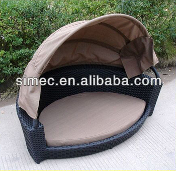 HDPE wicker rattan outdoor dog bed with canopy SCPB-006 & Hdpe Wicker Rattan Outdoor Dog Bed With Canopy Scpb-006 - Buy Dog ...