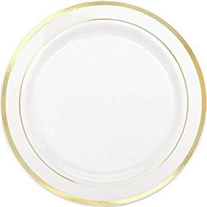 Get Quotations · Amscan Elegant Premium Plastic Round Party Plates with Trim (10 Piece) 10 1  sc 1 st  Alibaba & Cheap Elegant Plastic Plates find Elegant Plastic Plates deals on ...