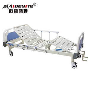 Cheap Prices Metal Two Cranks 2 Functions Manual Hospital Bed