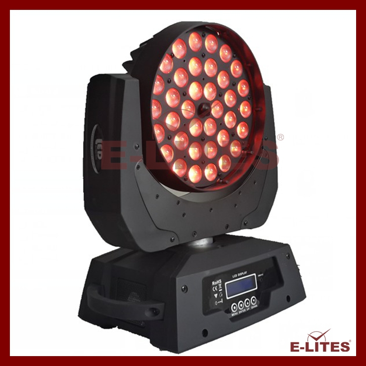 E-Lites moving head light 36*10w zoom wash/ 4in1 mac stage light 101