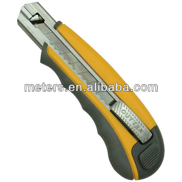25mm with skidproof rubber Twist lock Utility Knife