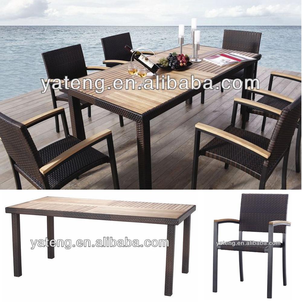 De aluminio de comedor silla de mesa de muebles de teca for Aluminio productos de fundicion muebles de jardin