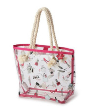 Printed Transparent PVC Tote Bag