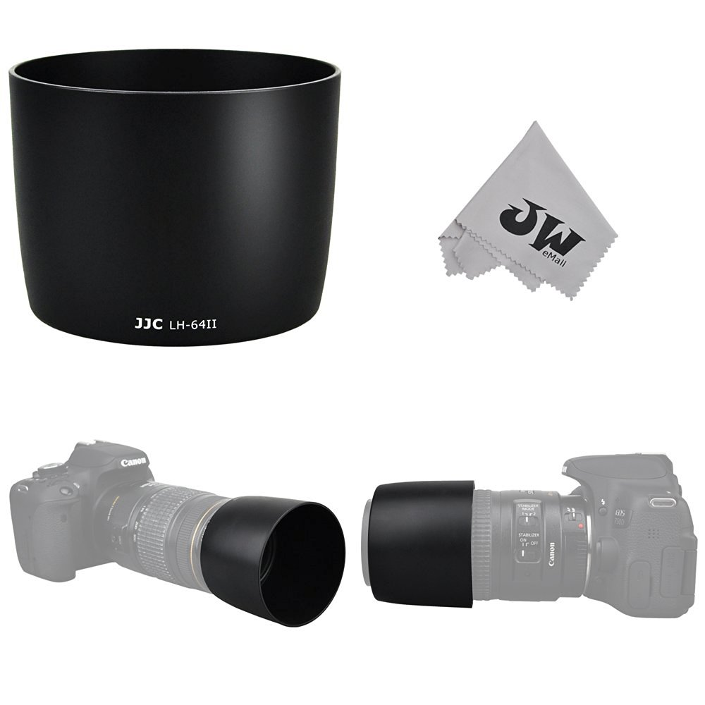 Uwinka Camera Lens Hood Shade for Canon EF 75-300mm f//4-5.6 III USM /& Canon EF-S 55-250mm f//4-5.6 IS II Lens Replaces Canon ET-60 Lens Hood Reverse Attaching Black