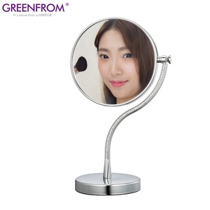 5x/10x magnified double sided swivel tabletop makeup desktop modern standing adjustable magnifying make-up mirror