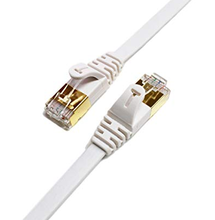 CAT7 Shielded Ethernet Patch Flat Cable 와 금-Plated & Shielded RJ45 internet connection cable