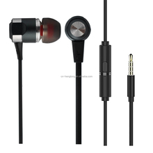 Customized metal earbuds with mic and functional button for android phones, laptops, tablet pc