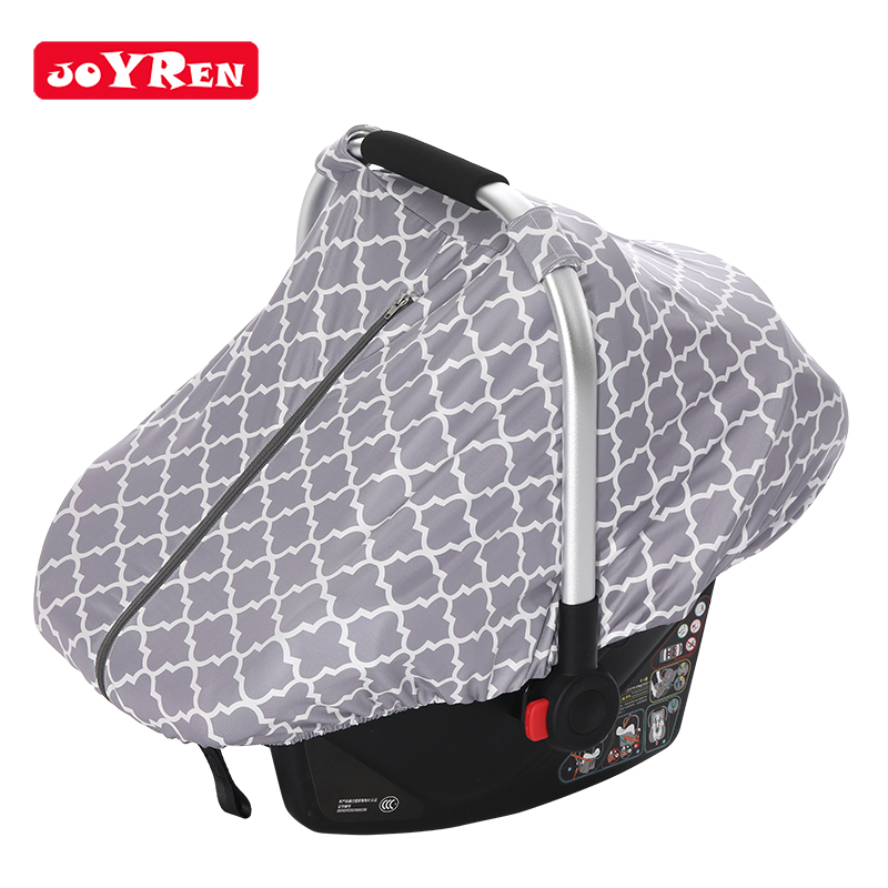 Factory Directly Sell Custom 5 In 1 Cheap Unique Grey Infant Baby Car Seat Cover