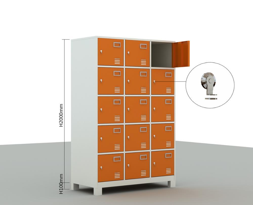 6 /15doors Hotel Locker Metal Locker Style Storage Cabinet Airport Luggage  Storage Metal Locker