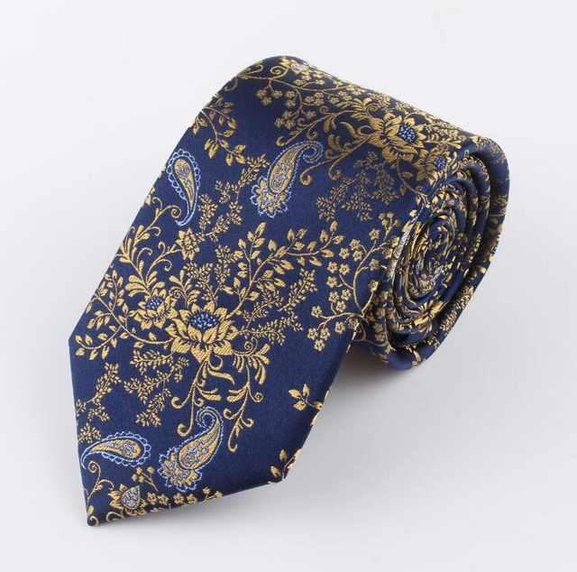 Customized European and American fashion Jacquard silk neckties cashew <strong>flower</strong> navy <strong>blue</strong> men silk <strong>tie</strong> arrow type